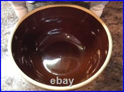 Vintage USA Pottery Mixing Nesting Bowls 5 Pc American Farmhouse Crock