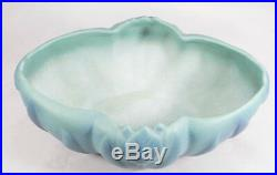 Vintage VAN BRIGGLE Art Pottery Tulip Bowl / Vase Turquoise Blue Excellent