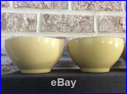 Vintage VIETRI Cucina Fresca Italian Set 4 Soup Cereal Bowls Saffron cream 5.75
