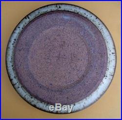 Vintage VIVIKA & OTTO HEINO large flat bowl, California studio pottery
