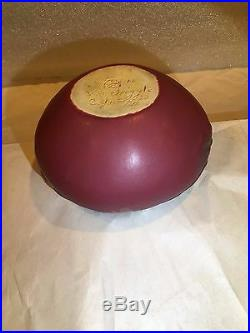 Vintage Van Briggle Acorn Pottery Vase/bowl, Mulberry, 1907-1912