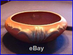 Vintage Van Briggle Art Pottery Mulberry Bowl With Flower Frog