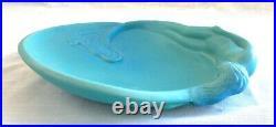 Vintage Van Briggle Turquoise Pottery Mermaid/Siren Dressing Table Tray