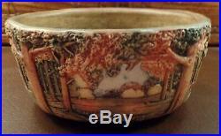 Vintage WELLER Art Pottery Forest 7 Woodcraft Planter Circa 1928