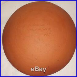 Vintage Washington Ledesma Hand Painted Pottery Art Bowl 8