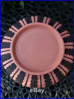 Vintage Wedgwood Large Teracotta / Pink And Black Jasperware Bowl C1957