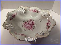 Vintage Weimar Porzellan Reticulated Footed Serving Bowl Germany