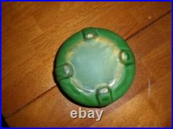 Vintage Weller Pottery Matt Green Small Flower Bowl 4 1/2 by 2 1/2