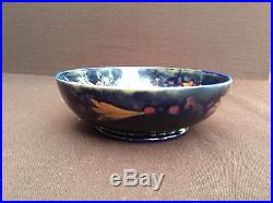 Vintage William Moorcroft Pomegranate Pattern footed bowl c, 1918. 8 by 2.75