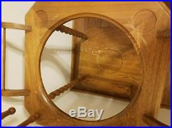 Vintage Wooden Wash Stand With Iron Stone Basin, Bowl and Mirror