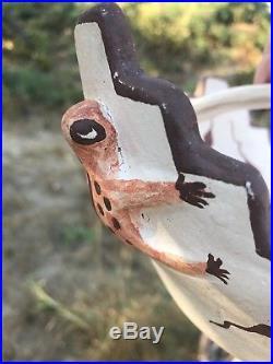 Vintage Zuni Native Indian Frog Effigy Pottery Bowl