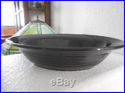 Vintage black Bauer pottery ring ware oval serving bowl 11x 8 RARE