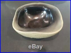Vintage jonquil RUSSEL WRIGHT BAUER Art Pottery Bowl organic square no damage