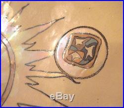 Vintage original signed Robert Palusky art pottery luster glass 15 inch bowl