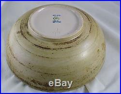 Vintage rare Gerd Bogelund Royal Copenhagen stoneware pottery spiral motif bowl