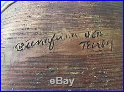 Vintage signed Ellen Evans Terrafirma Pottery Bowl and Platter Set 1987