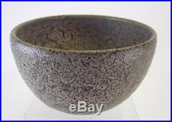 Vintage studio art pottery bowl by Ernst & Alma Lorenzen, Natzler era