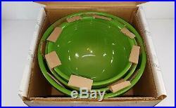 Vintage style 3 pc SHAMROCK GREEN baking NESTING mixing BOWL SET FIESTA 1st NIB