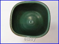 Vivika Otto Heino RARE Vintage Blue Green Matte Incised Art/Studio Pottery Bowl