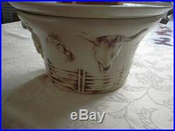 Vntg McCoy El Rancho Western Cowboy Hat & Bowl, Longhorn Chip & Dip, Soup Tureen
