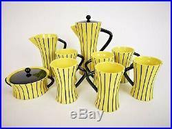 Vtg 1950s SAN POLO Italy MID Century MOD Venetian ART Pottery 11 pcs TEA Set NM