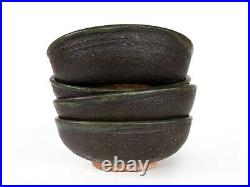 Vtg 1950s Studio Art Pottery Bowls Signed Mid Century Handmade Ceramics d. 1959
