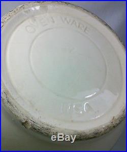 Vtg 3pc McCoy Pottery Yellowware Stoneware nested Mixing bowls 14 HUGE
