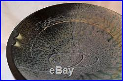 Vtg'91 Signed Richard Aerni Pottery Ash Glazed Stoneware Bowl-11 3/8 Mint