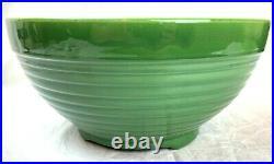 Vtg Bauer California Pottery Ring Ware 14 Jade Green FOOTED Salad Punch Bowl