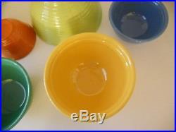 Vtg. Bauer Ringware 5 piece Pottery Nesting Bowl Set excellent condition