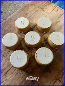 Vtg Bennington Potters #1641 Tawny Mustard Lug Bowls Yusuke Aida and David Gil