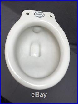 Vtg Ceramic White Porcelain Toilet Bowl Old Crane Bathroom 349-18E
