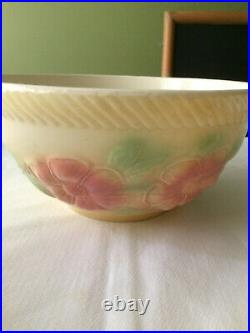Vtg Hull Sunglow Pottery USA 1950s 3 Mixing Bowls Grease Jar Salt & Pepper Vase