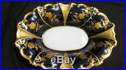 Vtg J. L. Menau Graf Von Henneberg Echt Kobalt Bowl