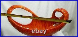 Vtg Mid Century Modern CENTERPIECE CONSOLE BOWL Lava Orange CALIFORNIA ORIGINALS