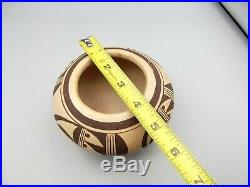 Vtg Nellie Nampeyo Hopi Polychromatic Pottery Clay Bowl Pot Sw Bird Signed