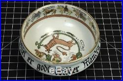 Vtg. Porsgrund Traditional Ale Bowl Wedding Procession Norway Norge Porcelain