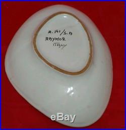 Vtg Raymor Bitossi Italian Ceramic Bowl Ashtray MID Century Modern