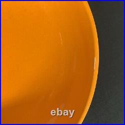 Vtg Royal Haeger 707-S Covered Candy Dish Mandarin Orange Mid Century Modern 60s