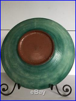 Vtg Theo & Susan Harlander MCM Canada Art Pottery Abstract Plate Bowl Cubist