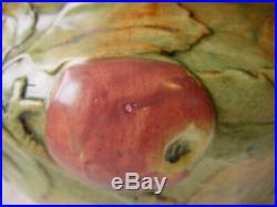 WELLER Baldin APPLE Large BOWL Vintage Art POTTERY Woodcraft 1920s 3D Jardiniere