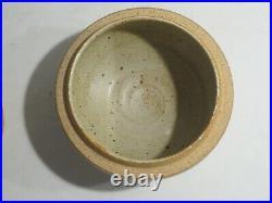 Warren Mackenzie Vintage Decorated Lidded Bowl, Marked, Pvt. Collection