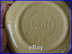 Watt Pottery Vintage 5 Star Starflower Spaghetti/Salad Bowl 5 Individual Bowls