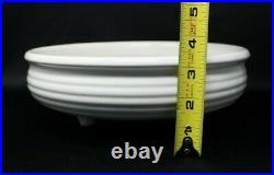 White Ring Bauer Pottery Three Footed Bowl Los Angeles Original Vintage Ringware